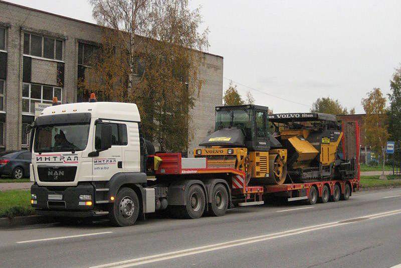 Транспортировка, доставка асфальтоукладчика в Челябинск и другие города России