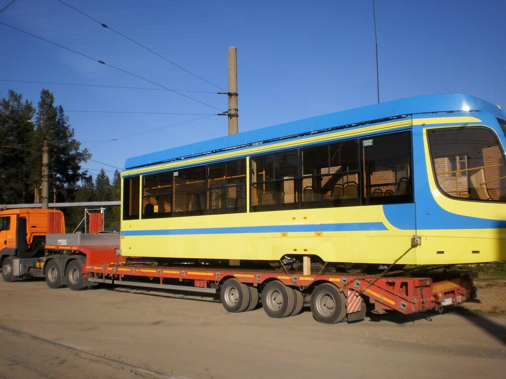 Транспортировка части трамвая